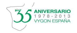 logotipo 35 aniversario Vygon España